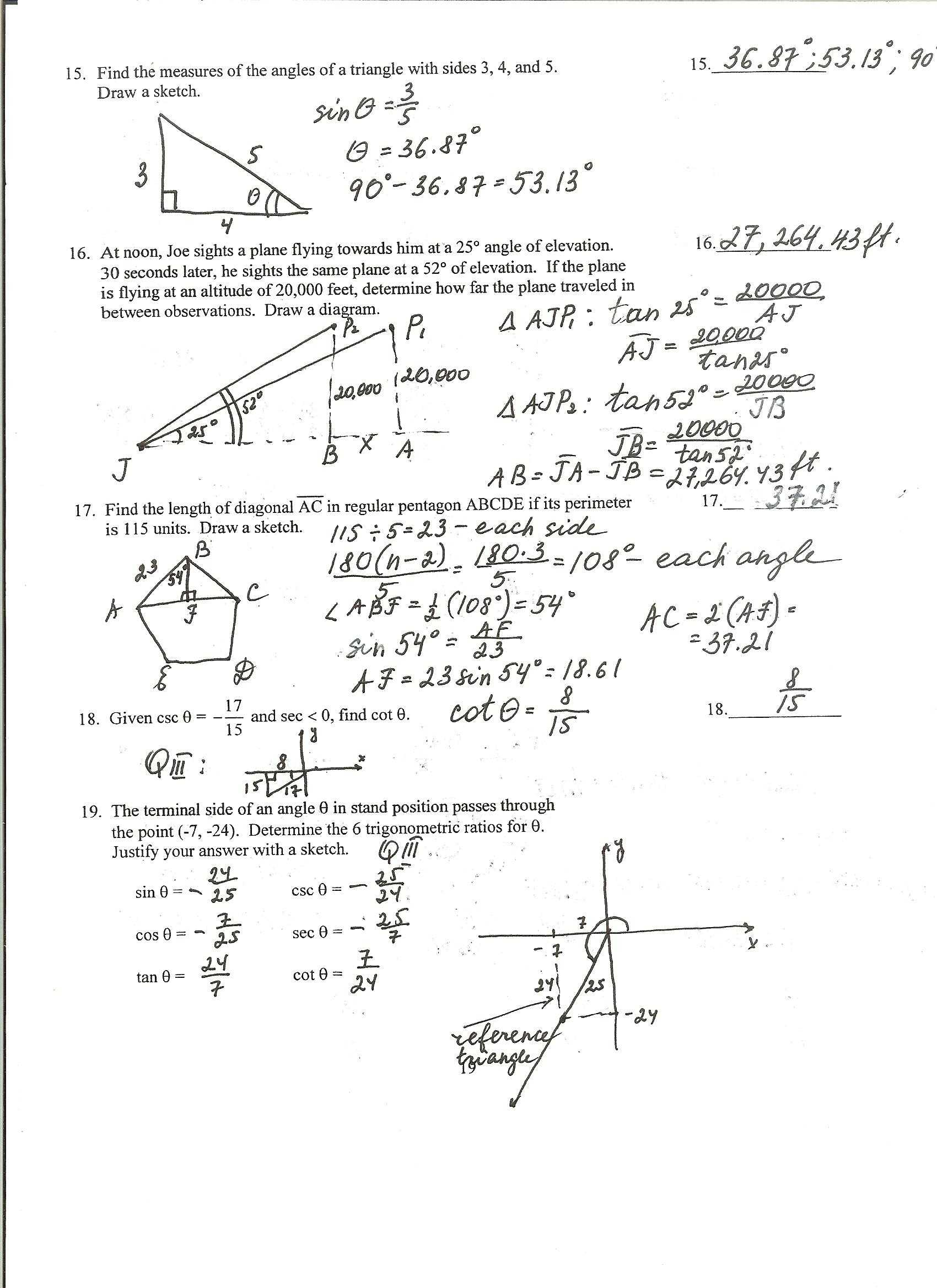 Inverse Functions Worksheet Answer Key And Worksheet 7 4