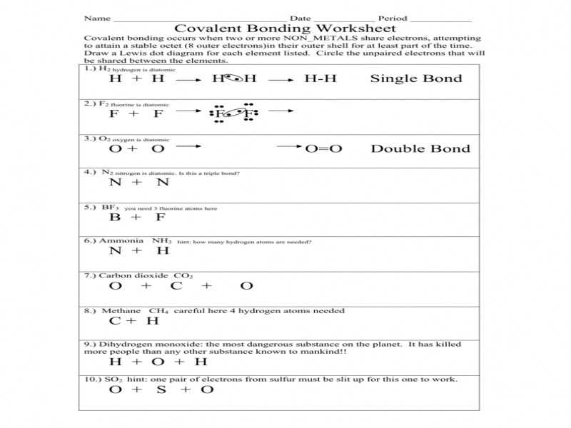 Ionic Bond Practice Worksheet Answers with Identifying Ionic and Covalent Bonds Worksheet Worksheets