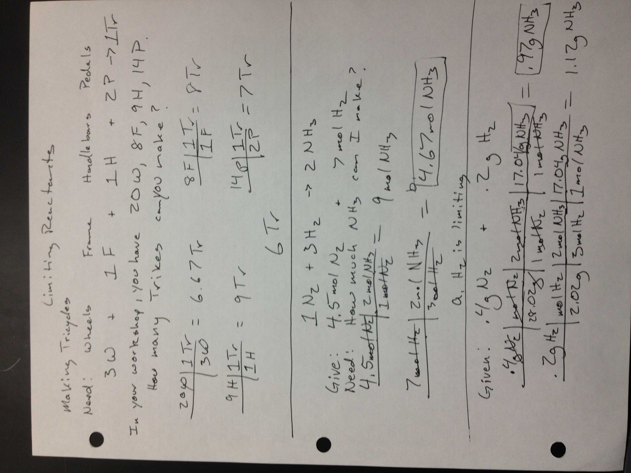 Limiting Reagent Worksheet 2 or assignments