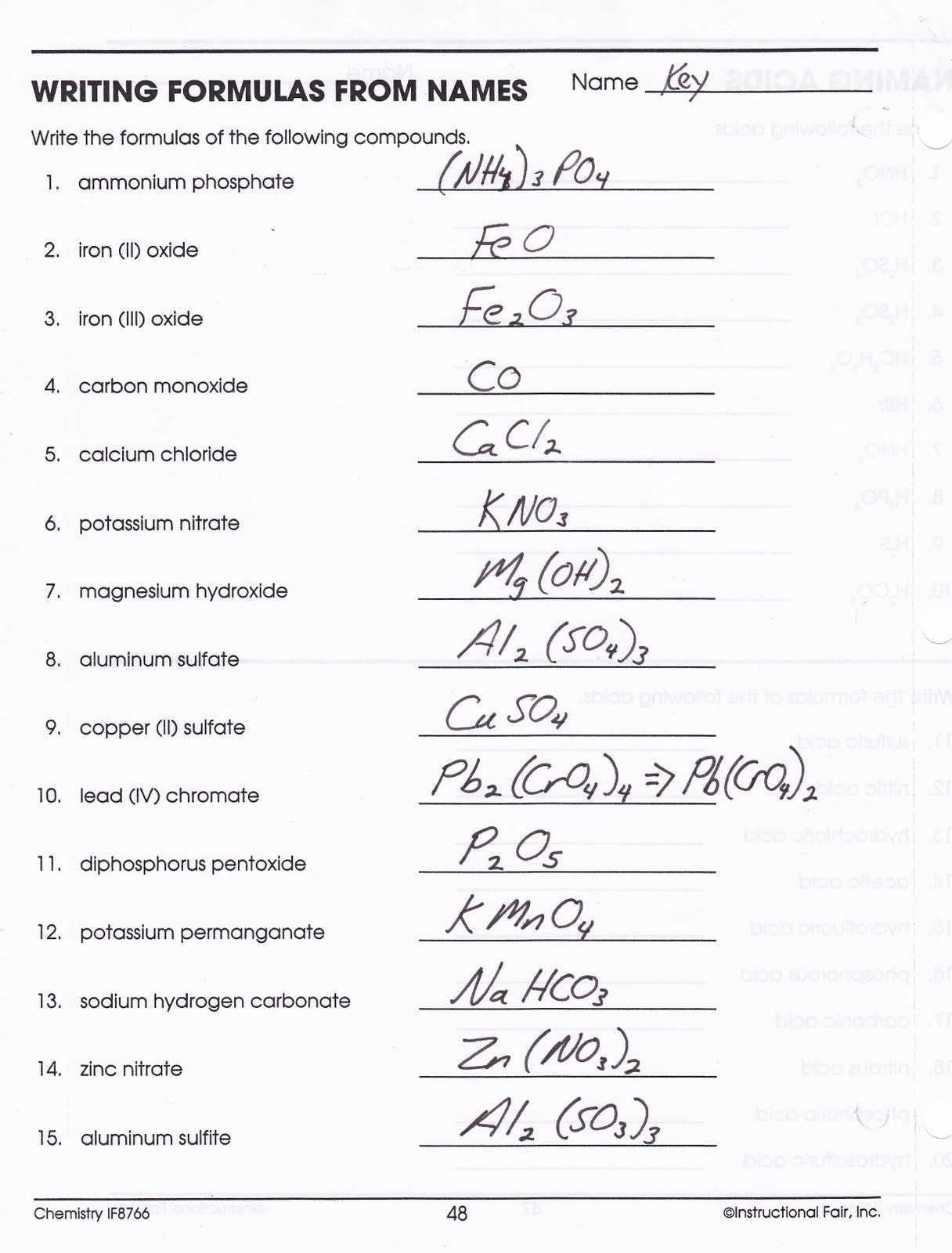 Naming Covalent Compounds Worksheet Answers As Well As