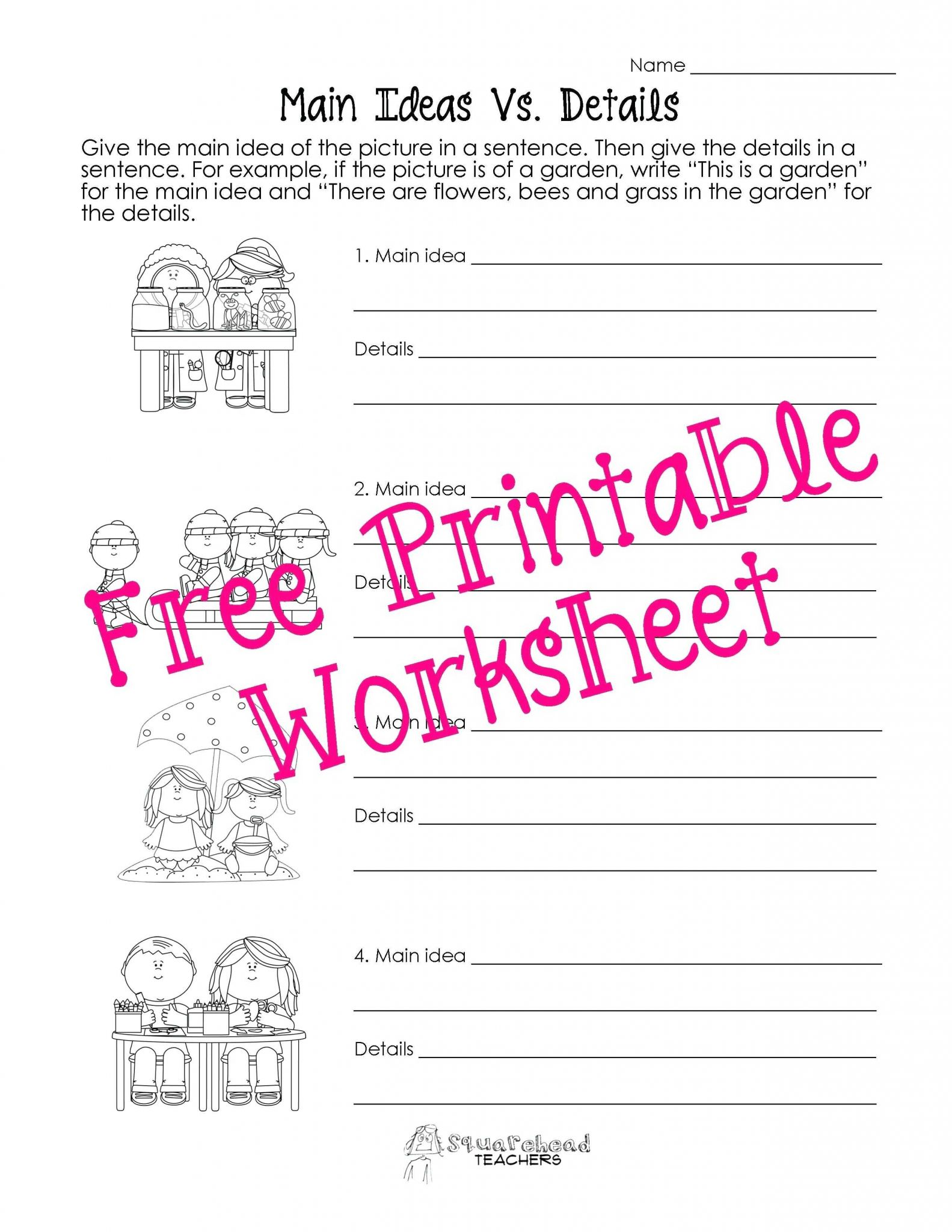 Nonfiction Text Features Worksheet Or Reading Prehension