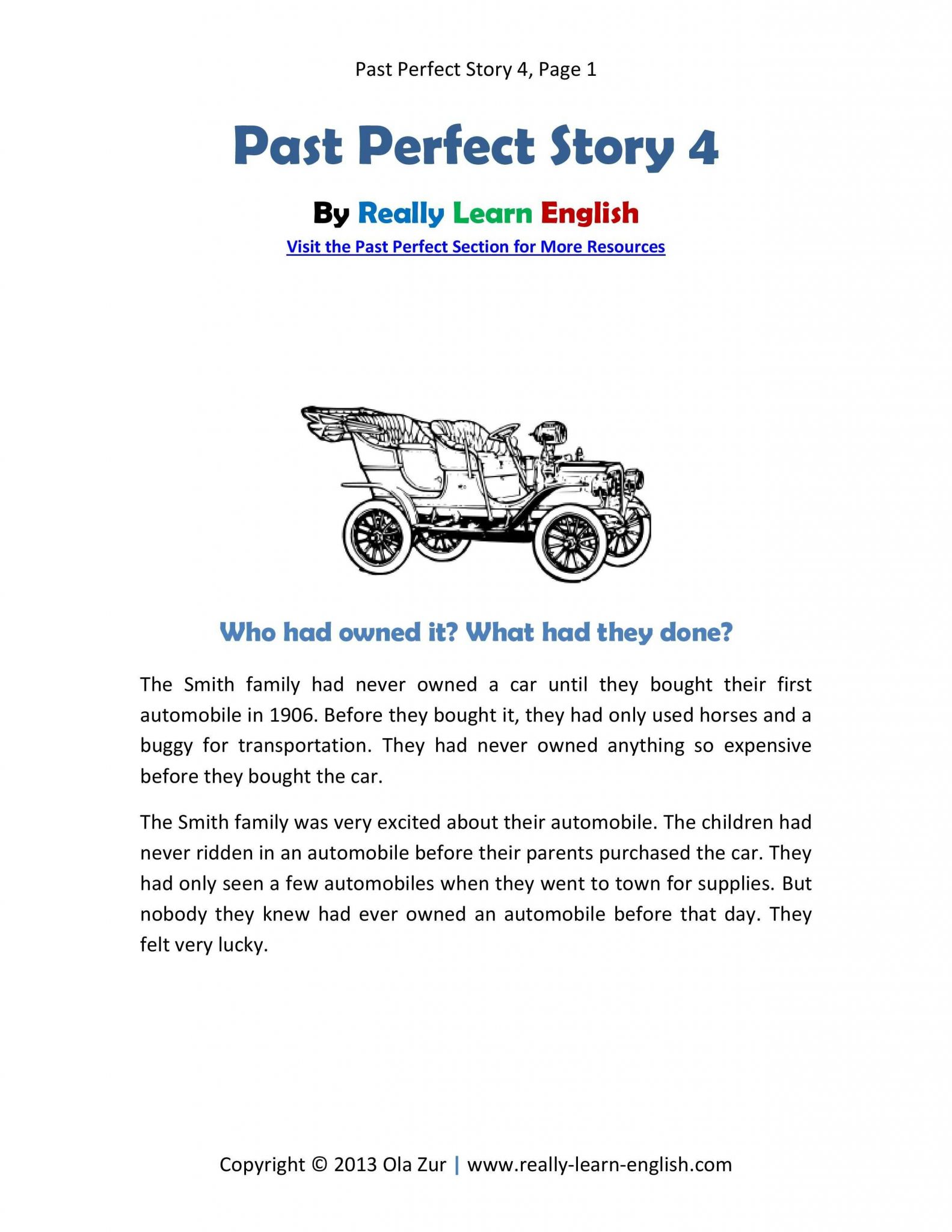 Present Progressive Worksheets and Free Printable Story and Worksheets to Practice the English Past