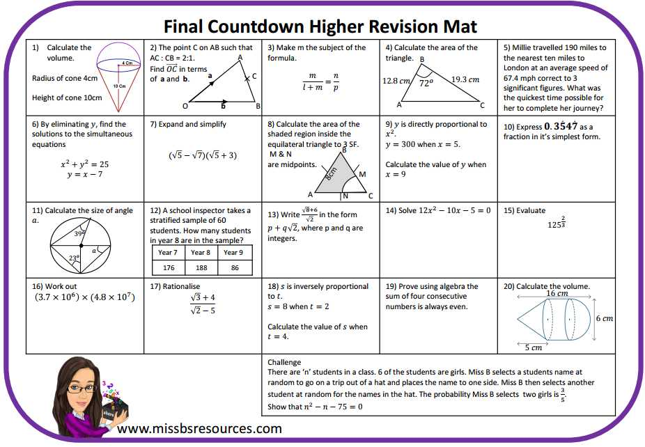 Rotations Practice Worksheet Along with Maths Revision Mats