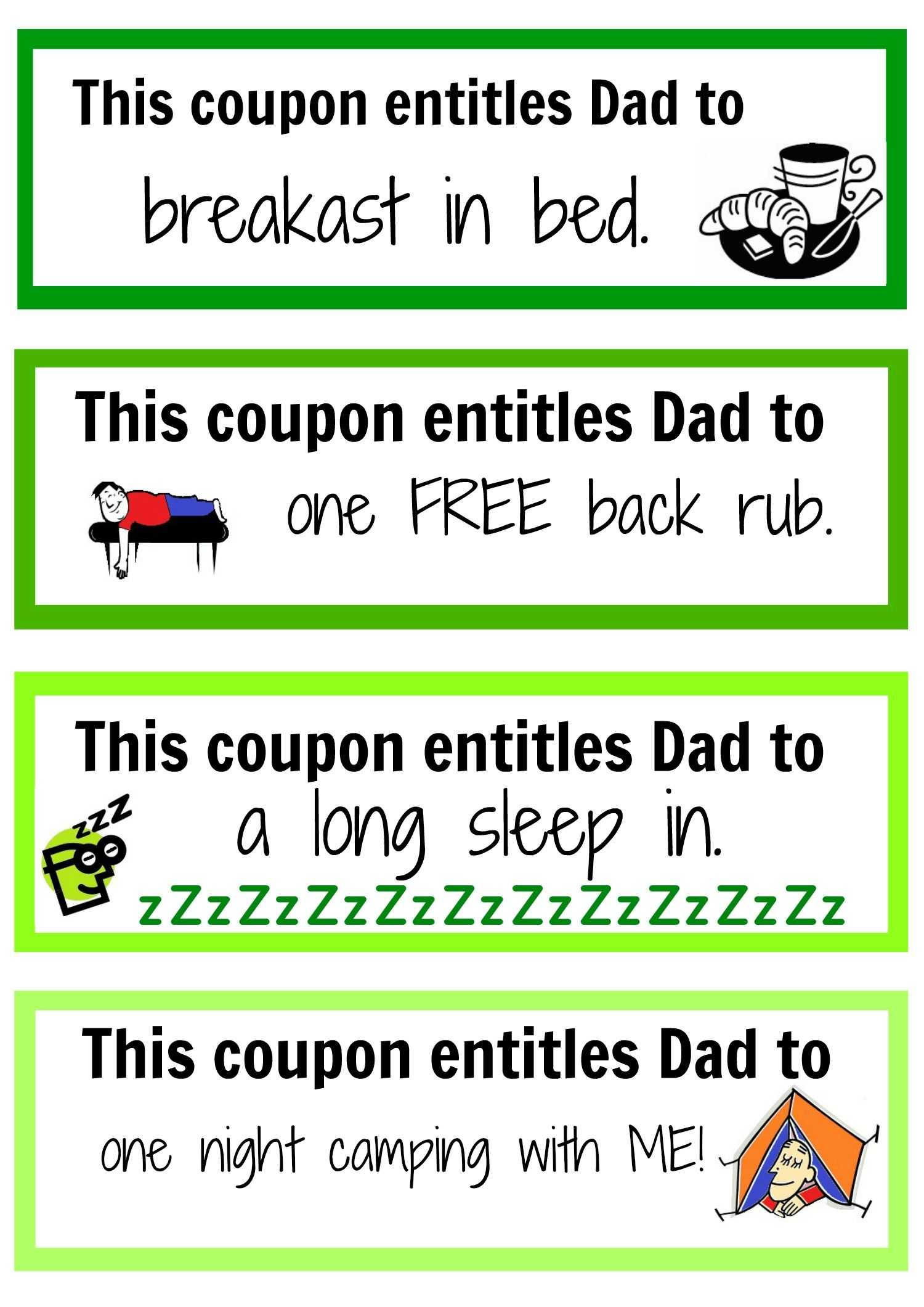 Sleep Hygiene Worksheet with Father S Day Coupon Booklet Pinterest