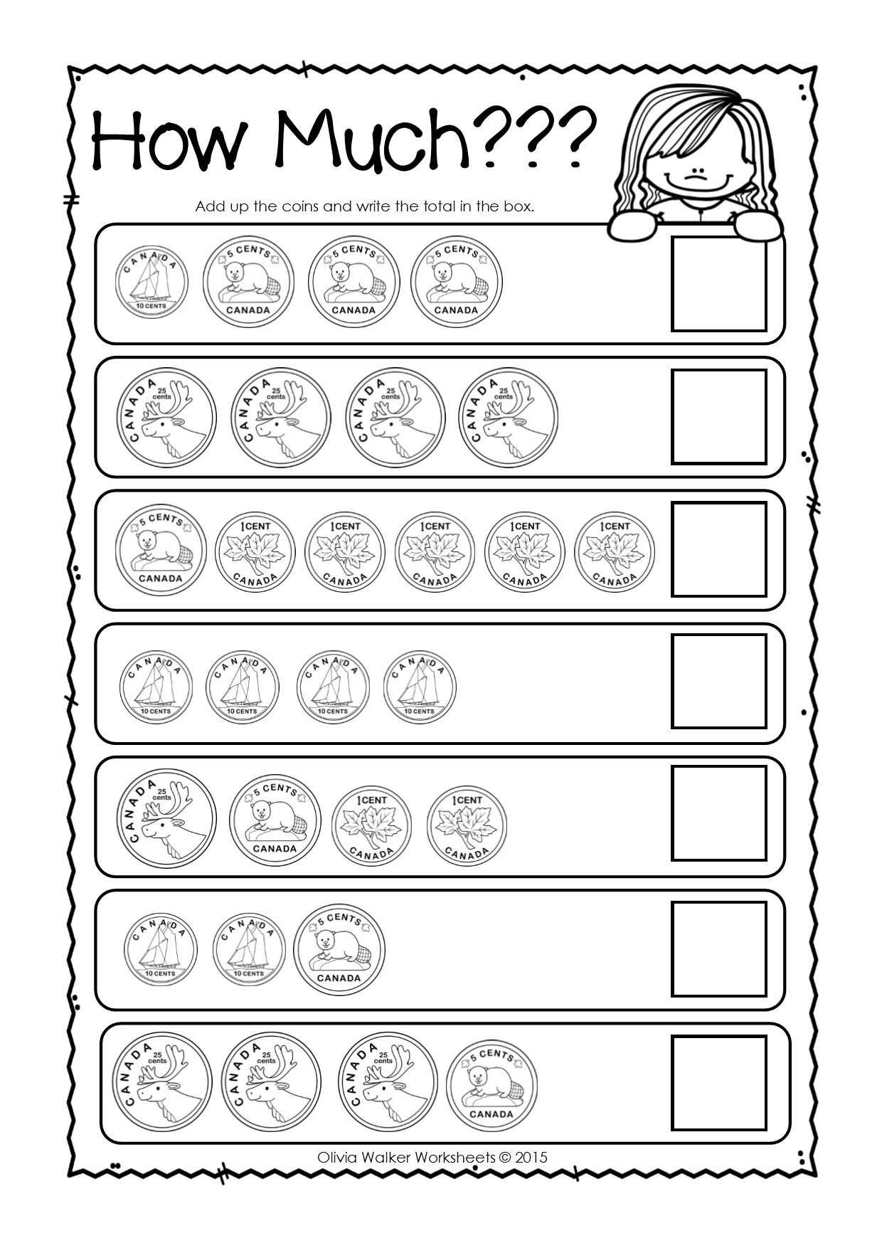 Spanish Worksheets for Kids together with Canadian Money Worksheets Printables Kindergarten Grade E