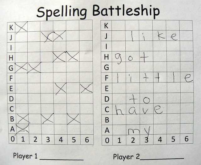 Spelling Worksheets for Grade 1 Also E is for Explore Spelling Battleship