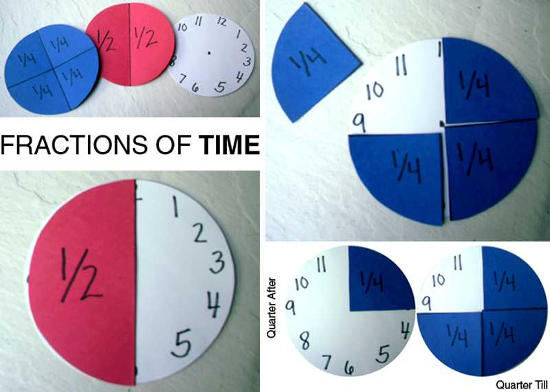 Telling Time to the Half Hour Worksheets together with E is for Explore Fractions Of Time