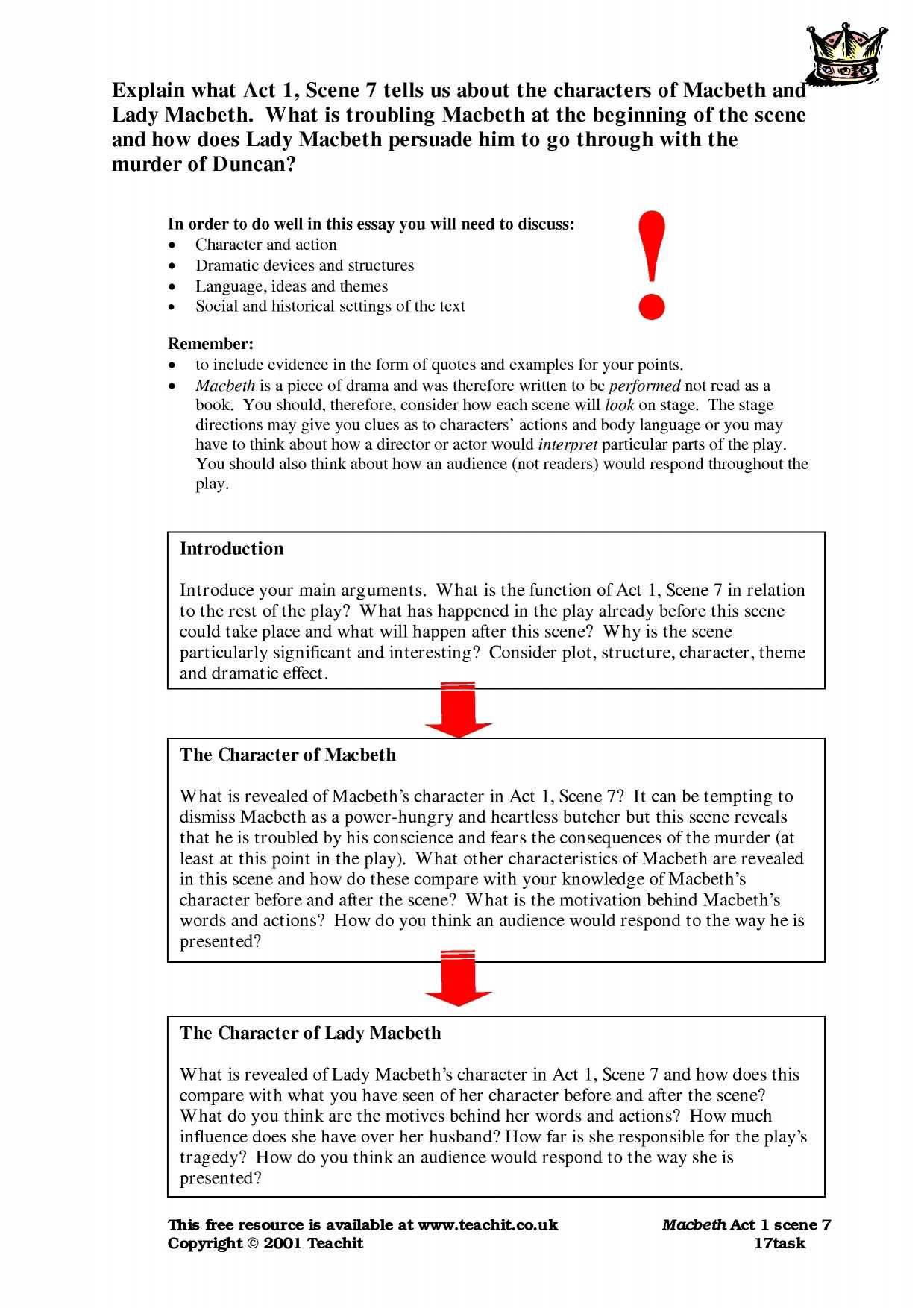 Text Annotation Worksheet Also Macbeth Search Results Teachit English