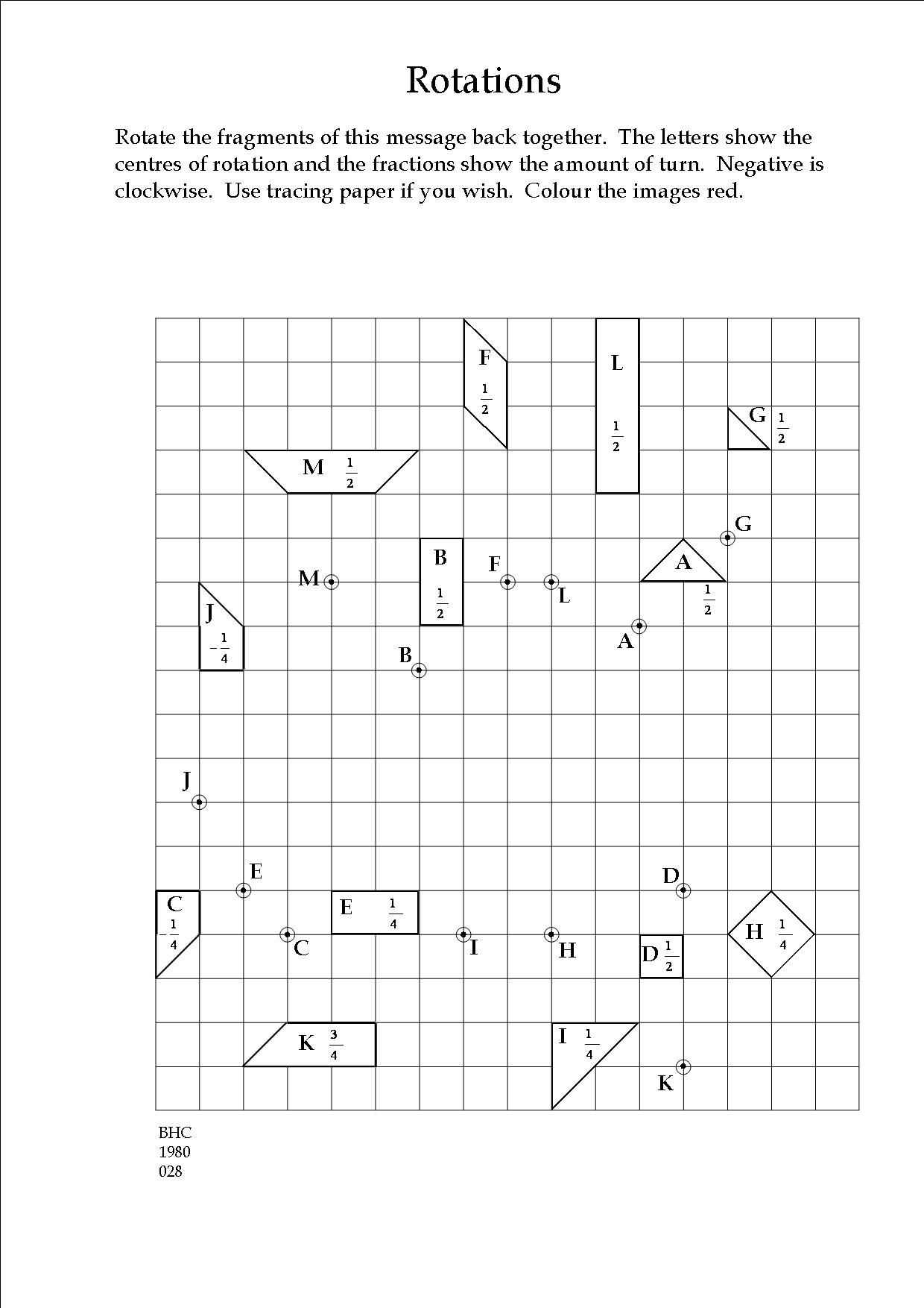 Transformation Practice Worksheet Along with An Exercise In Transformation Geometry Teaching