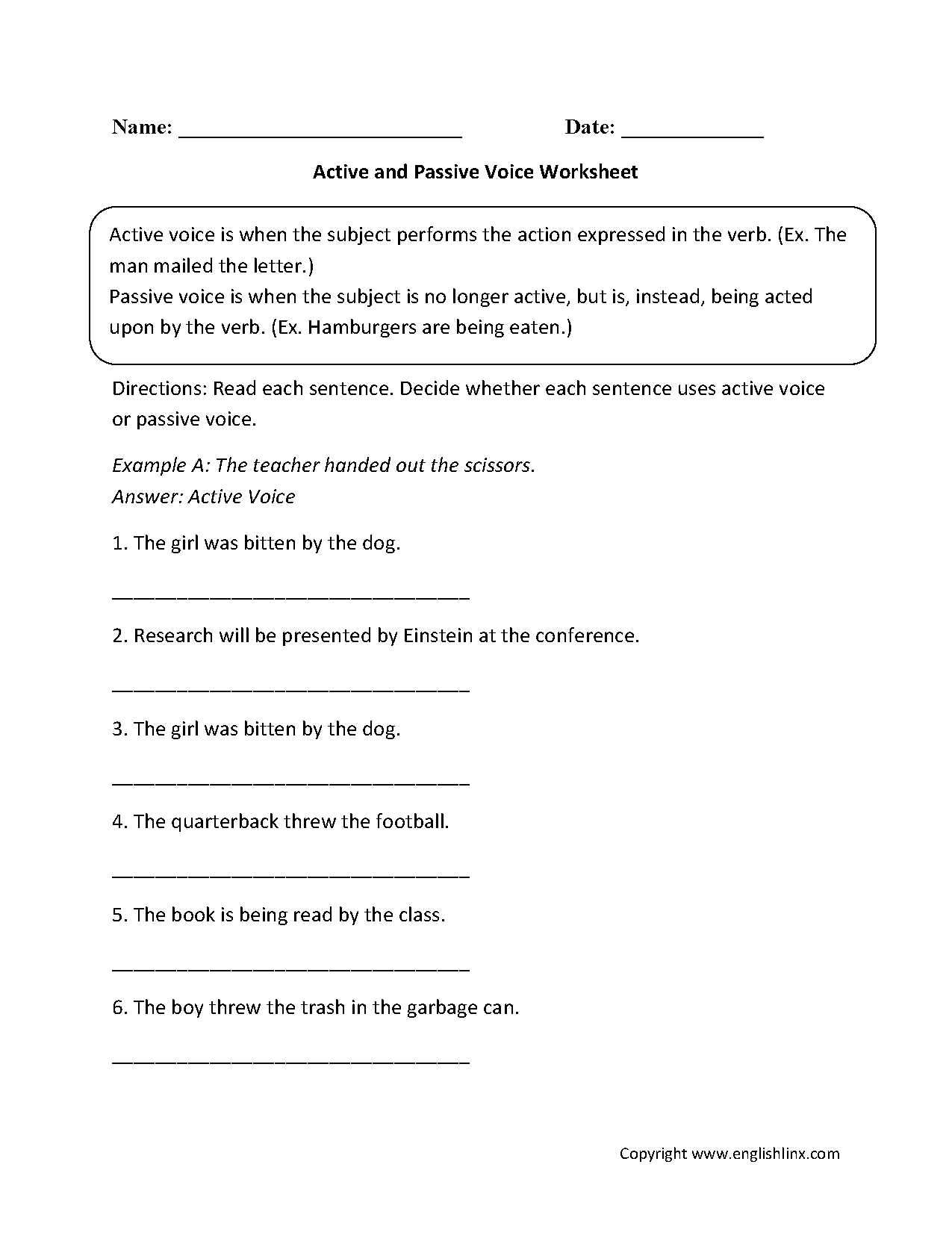 Transformation Practice Worksheet Also Active and Passive Voice Worksheet Great English tools