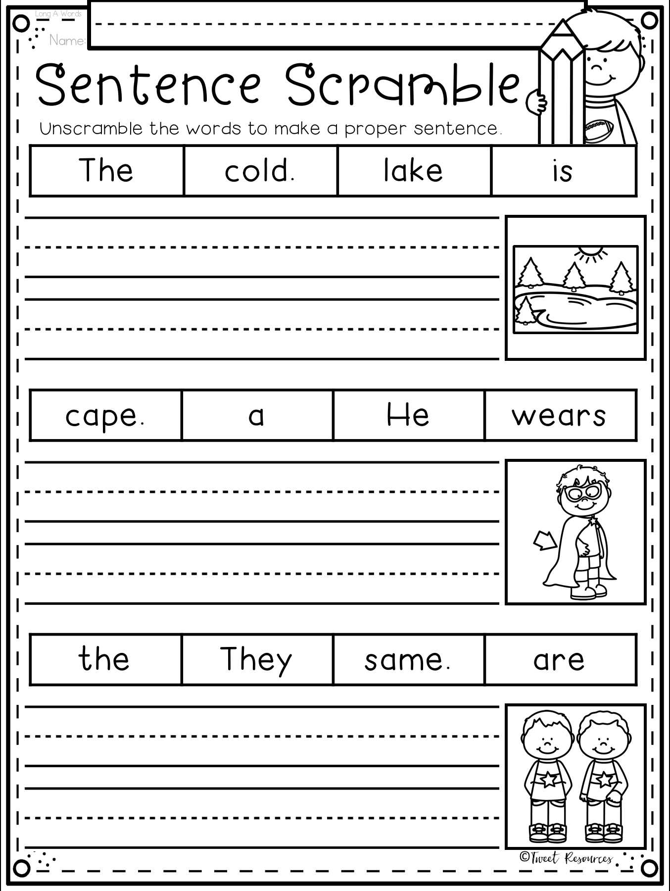 Unscramble Sentences Worksheets 1st Grade Also the Ultimate Phonics Supplement Bundle with Differentiation
