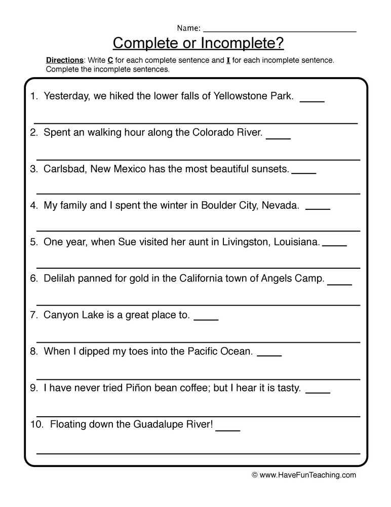 Writing Sentences Worksheets for 1st Grade together with Printables Writing Plete Sentences Worksheets