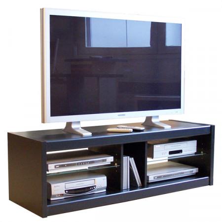 meuble tv noir 125 cm se meubler on line