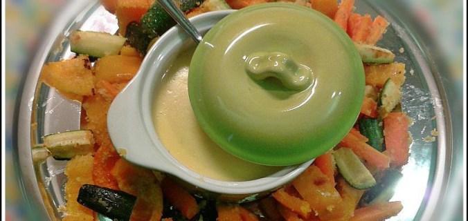 Verdure al forno con fonduta di taleggio