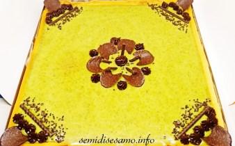 Crostata con crema frangi pane e ganache al pistacchio 2