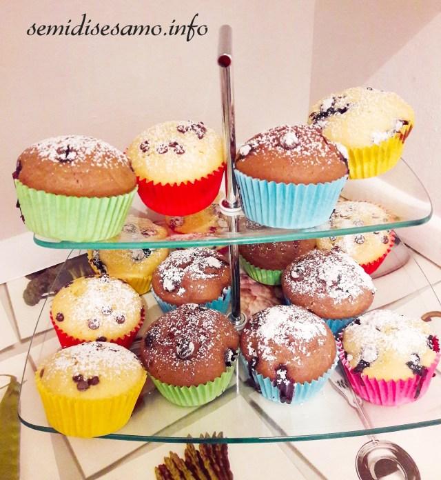 muffin dolci all'acqua