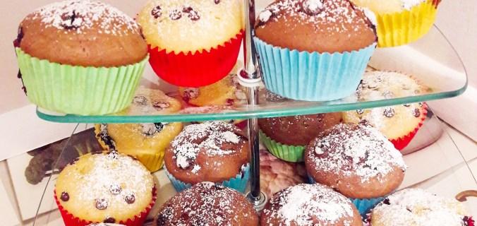 Muffin dolci all'acqua, impasto base senza burro