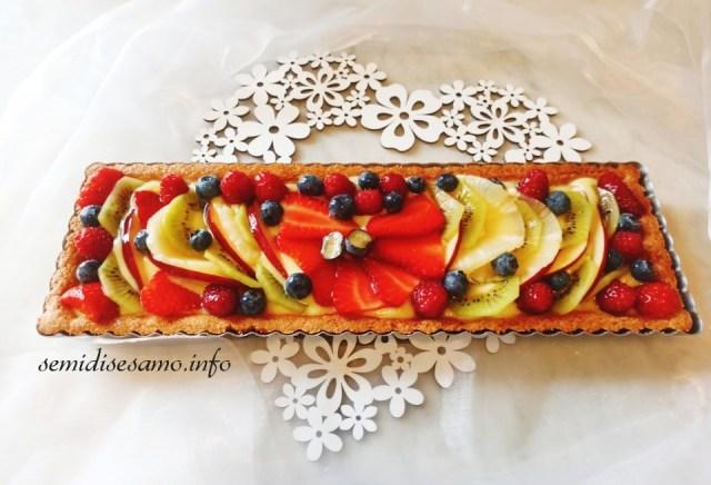 crostata di frutta con frolla integrale