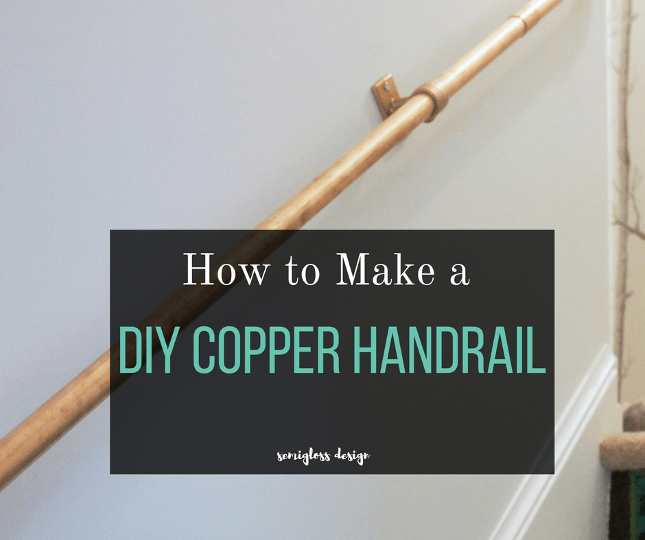 Super Easy Diy Stair Handrail Made From Copper Pipe Semigloss Design | Building A Stair Rail | Craftsman Style | White | Horizontal | Glass | Inexpensive
