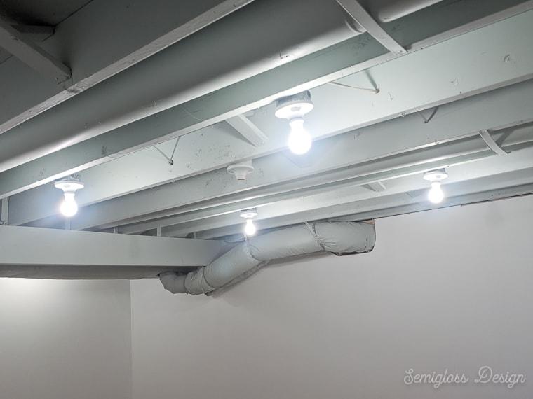 for unfinished basement lighting