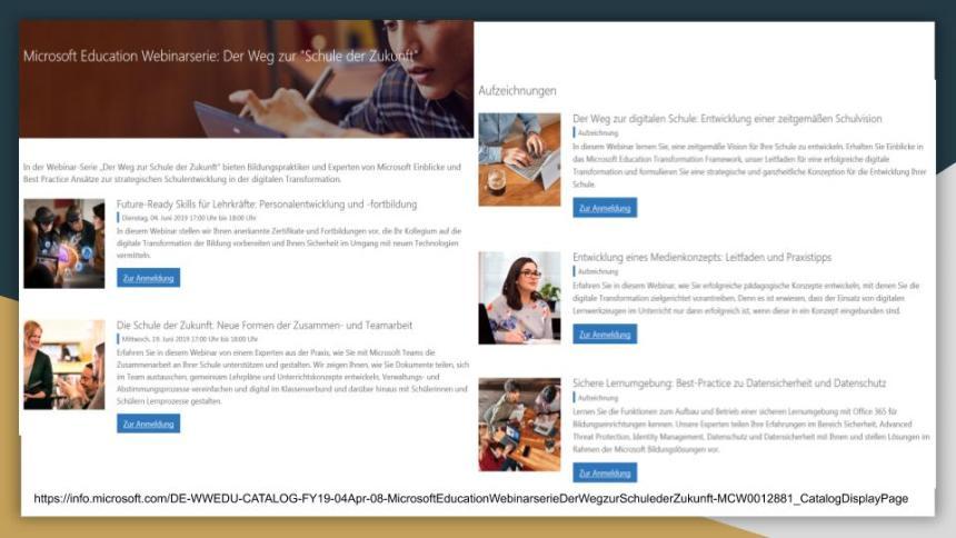 Webinare Microsoft