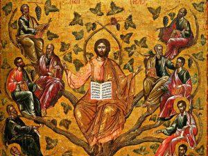 Christ the True Vine icon (Athens, 16th century)