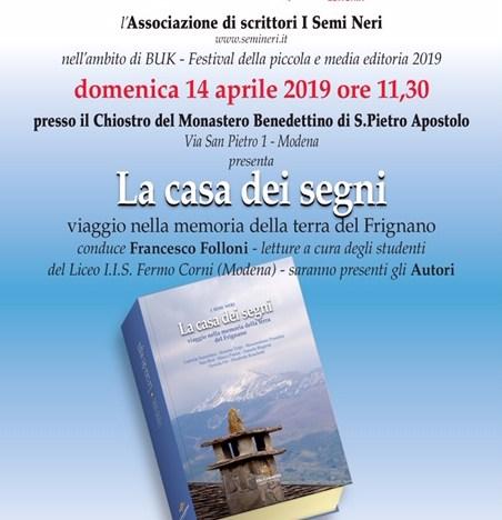 """2019.03.23 – """"La casa dei segni"""" a La Nicchia, Serramazzoni (Mo)"""