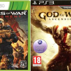 GoW…GoW…Gadget-o-Préquelles! (God of War: Ascension, PS3), Gears of War: Judgment, XBox 360)