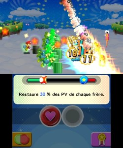 Dans le monde des rêves, Luigi se voit comme hyper puissant. Mamma mia!