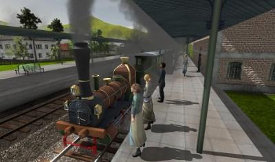 Des gens attendent le train en gare de Sion.