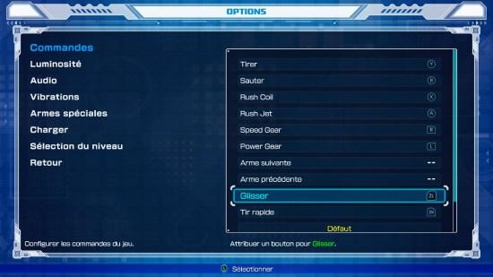 Mega man 11 Switch changement de touche