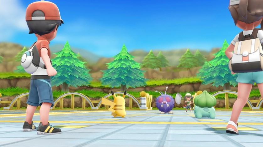 Pokémon let's go Pikachu affrontements 2 joueurs Switch