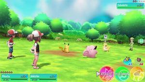 Pokémon let's go Pikachu affrontements Switch