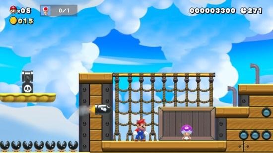 Super Mario Maker 2 forteresse volante