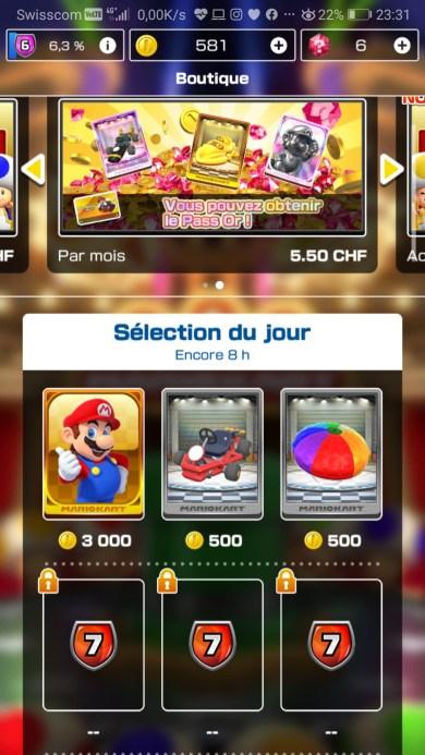 Mario Kart Tour mobile boutique