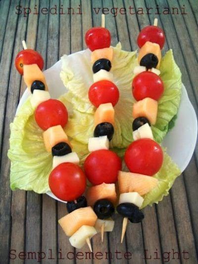 Spiedini vegetariani estivi