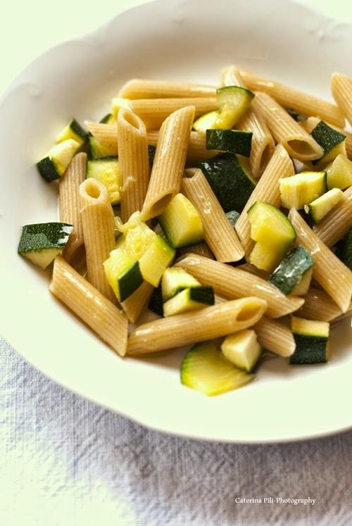Pasta integrale con le zucchine