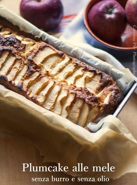 Plumcake morbido alle mele ,ricetta light senza burro e senza olio
