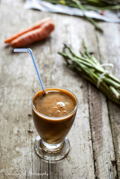 Centrifugato di carote sedano e asparagi,ricetta detox