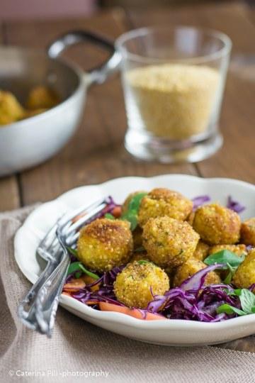 Polpettine di miglio patate e cavolfiore   ricetta senza uova