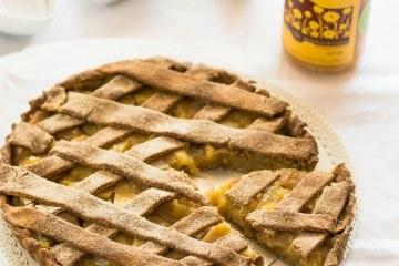 crostata con frolla al miele