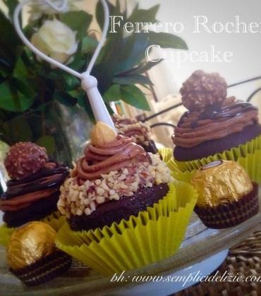 Ferrero Rocher Cupcake con Nutella Buttercream ❤️