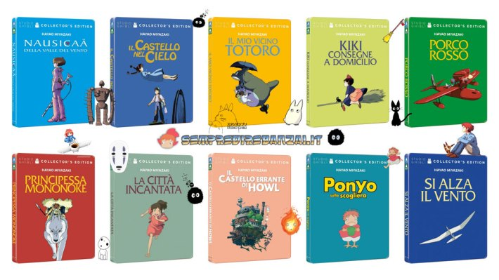 Miyazaki Steelbook Collection disponibile dall'11 novembre!