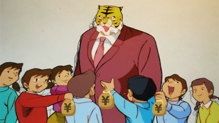 Uomo giapponese dona sacchi di denaro alle scuole
