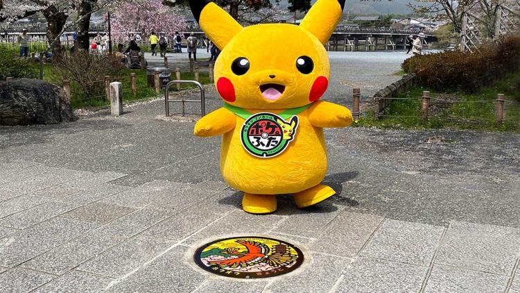 La città di Kyoto ha appena installato i suoi primi tombini Pokémon