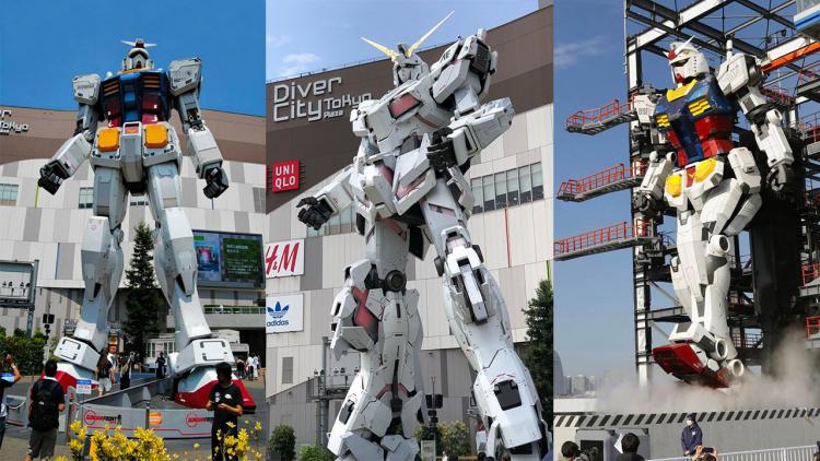 Una statua di Gundam a grandezza naturale nuova di zecca
