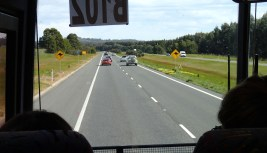 De camino a Ballarat en bus
