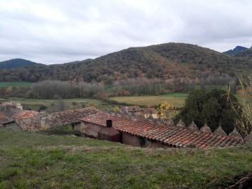 Vistas desde las murallas de Santa Pau