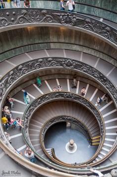 Escalera de caracol del Museo del Vaticano
