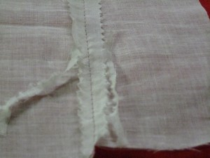 Problem: if your Pinking Shears are dull or nicked, they will chew up the fabric instead of cutting it.